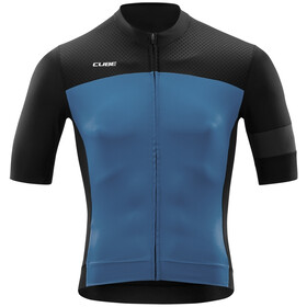 Cube Blackline Jersey Korte Mouwen Heren, black´n´smoke blue